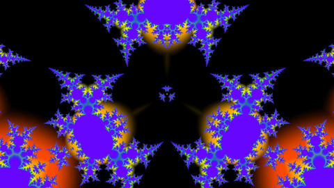 Bright Fractal stock footage