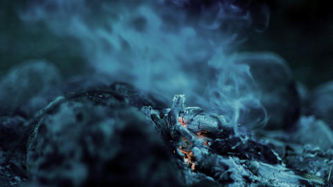 Ashes and smoke Stock Video Footage
