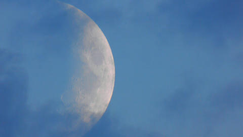 Moon closeup 3 Stock Video Footage