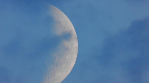 Moon Closeup 3 stock footage