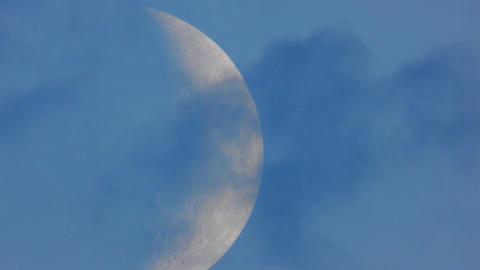 Moon closeup 3 Stock Video Footage