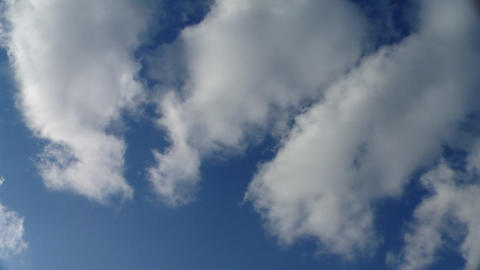 White puffy clouds Stock Video Footage