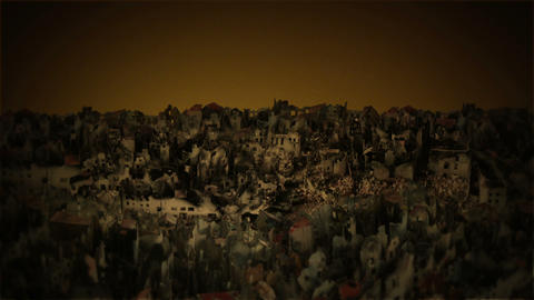City In Ruins After War stock footage