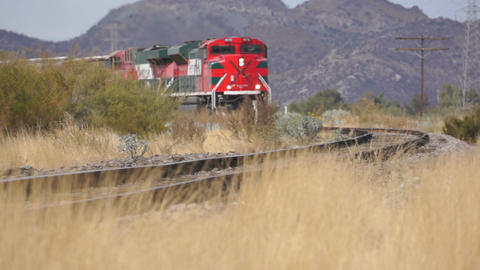 Railroad Train on the Tracks Stock Video Footage
