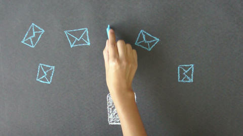 Group Email Stock Video Footage