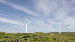 Windmills at a Wind Farm Time Lapse Stock Video Footage