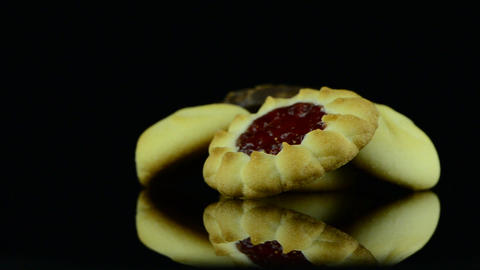 Delicious butter cookies Stock Video Footage