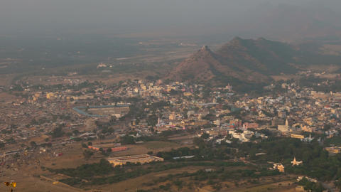 Pushkar panorama Stock Video Footage