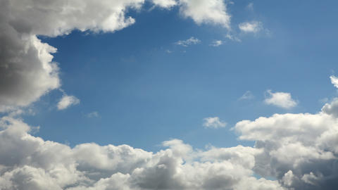 Running clouds (Time Lapse) Stock Video Footage