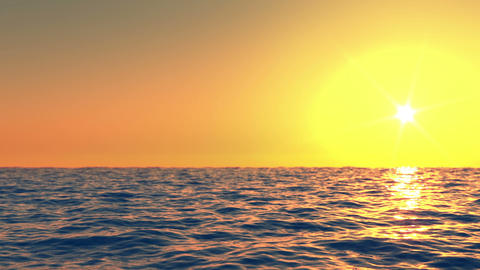 Sunset at sea time lapse Animation