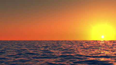 Sunset at sea time lapse Stock Video Footage