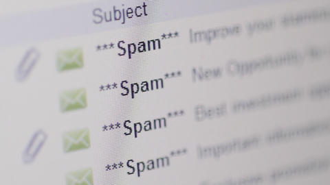 Spam Emails Stock Video Footage