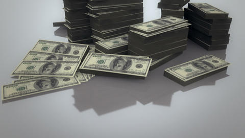 Pile Of Dollars stock footage