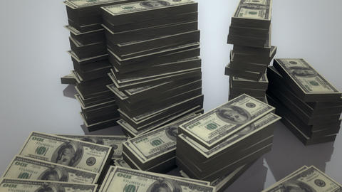 Pile of Dollars Stock Video Footage