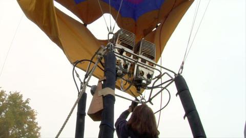 hot-air balloon 12 Stock Video Footage