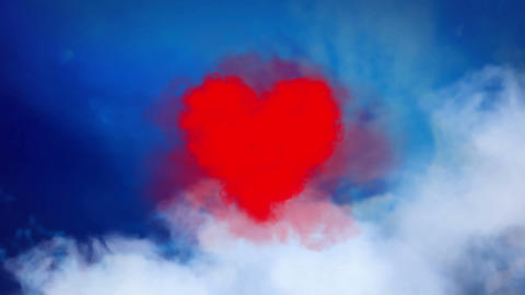 Valentine's Heart in the sky Animation