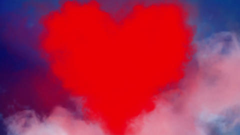 Valentine's Heart in the sky Stock Video Footage