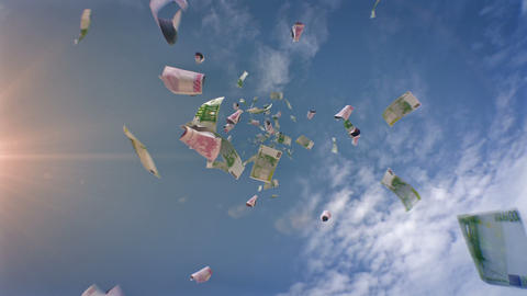 Euros Falling From the Sky Animation