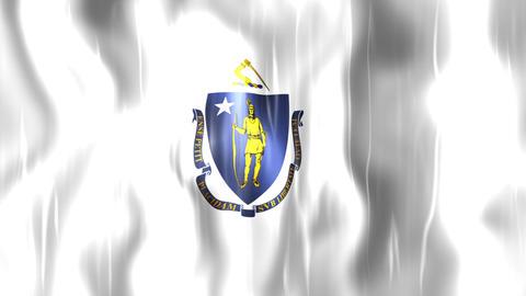 Massachusetts State Flag Animation Animation