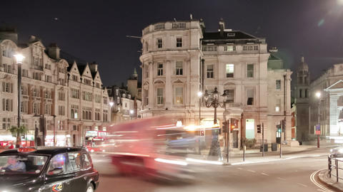 Panning time-lapse of traffic at Charing Cross in London Footage