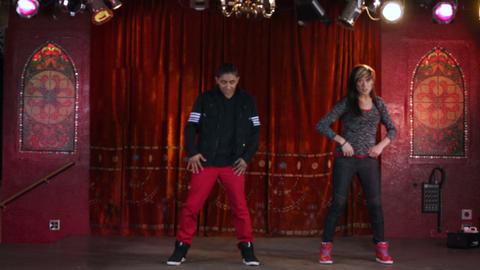 Two hip hop dancers filmed in slow motion Footage