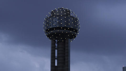 Reunion Tower in Dallas, Texas Footage