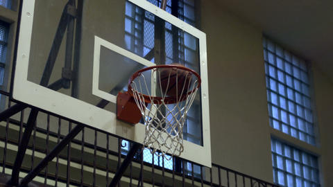 Close up of a missed basketball shot Footage