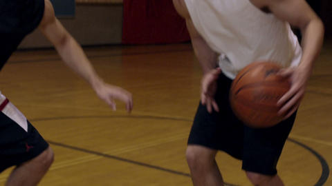Jump shot in one-on-one basketball Footage