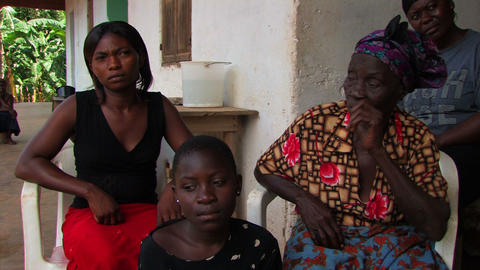 Family being interviewed in Ghana Footage