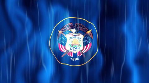 Utah State Flag Animation Animation