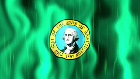 Washington State Flag Animation Animation
