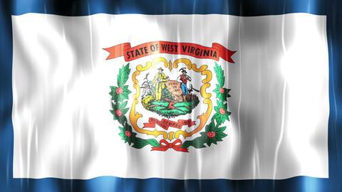 West Virginia State Flag Animation Animation