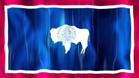 Wyoming State Flag Animation Animation