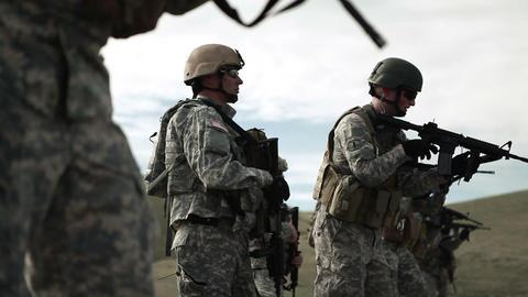 Green Berets practicing at shooting range Footage