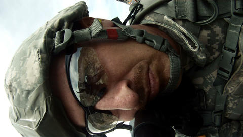 Point of view shot from rifle as it fires Footage