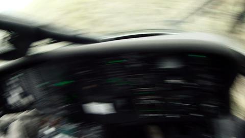 Black Hawk copilot landing and checking door Live Action