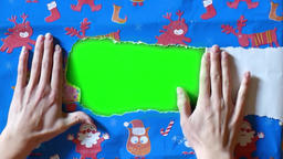 Gift paper green screen 2 Footage