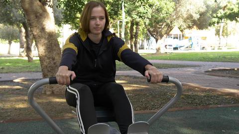 street simulator of rowing Footage