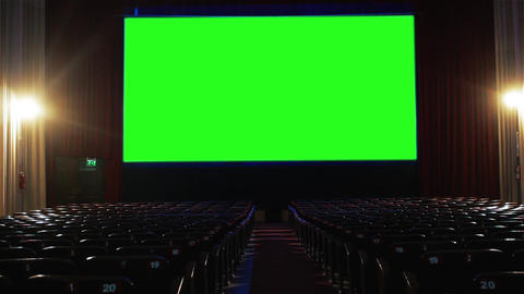 Cinema with Green Screen Footage