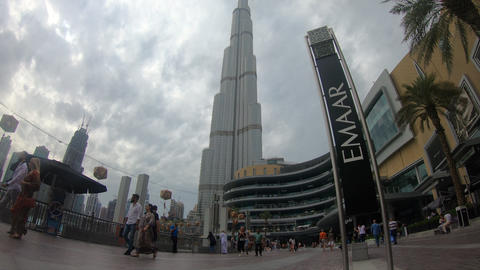 the time lapse of burj khalifa 4K Footage