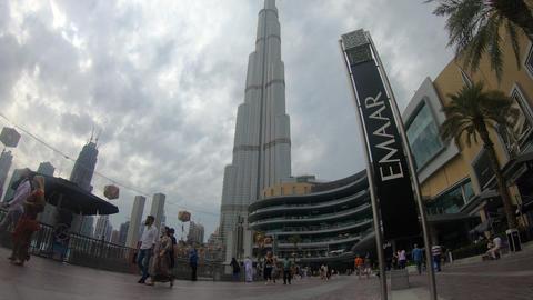the time lapse of burj khalifa 4K Footage