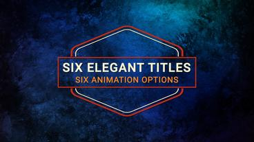 Six Elegant Titles Motion Graphics Template