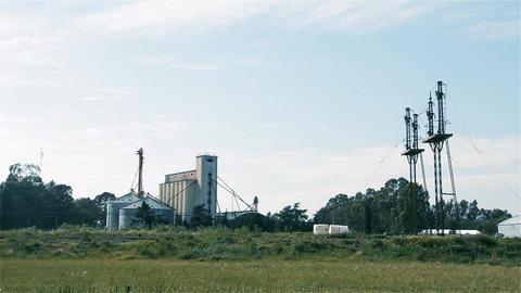 Farming Industry Buildings Footage
