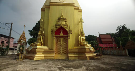 Chedi Buddhism in Thailand 4K Live Action