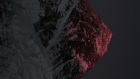 Vertical shot of Time-lapse of Mount Everest at sunset Footage