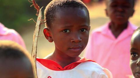 Kids smiling at the camera in Kenya Footage