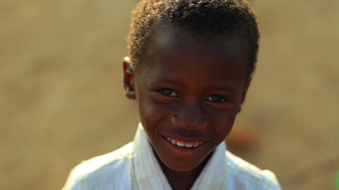Little smiling Kenyan boy Footage