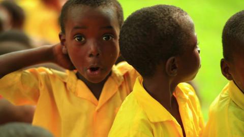 Kenyan boys making faces at the camera Footage