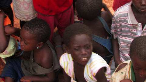 African children sitting together Footage