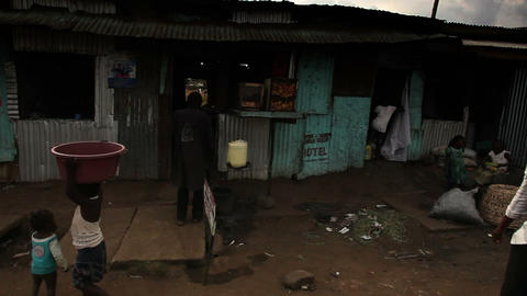 Shot driving through city traffic including bikes and pedestrians. Shot in Kenya Footage